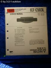 Sony Service Manual ICF C503L PLL Synthesized Kitchen Radio (#3207)
