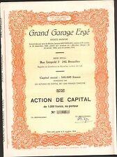 RARE => Grand Garage ERGE (BRUXELLES BELGIQUE) (E)