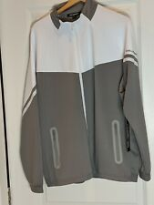 karl lagerfeld Men's Zip-Front Track Jacket white black LM9J4807 size Large L Lg