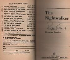 Signed copy of The Nightwalkers by Thomas Tessier (1981, Paperback)