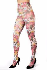 Ladies/Womens Bird printed tights fashion tights on white background