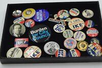 Vintage Campaign Buttons Pins Nixon Ike Dick Roosevelt Bush Quayle Kennedy