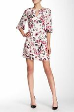 New Adrianna Papell Keyhole Floral Print Shift Dress Size 10