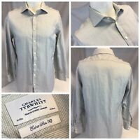 Charles Tyrwhitt Extra Slim Fit Shirt 16 33 Gray Check Cotton Worn 1x YGI F9-246