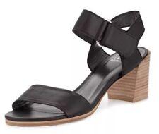 Stuart Weitzman Broadband Leather City Black Sandal 5269 Size 6 M  $395