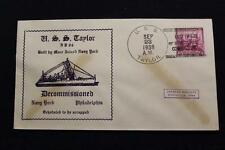 NAVAL COVER 1938 SHIP CANCEL DECOMMISSIONING USS TAYLOR (DD-94) (3229)