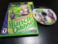 Oddworld: Munch's Oddysee (Microsoft Xbox, 2002) TESTED! FREE SHIPPING NO MANUAL