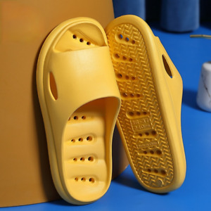 Women Men Summer Slippers Non-slip Sandals EVA Thick Sole Shoes Slides Bathroom