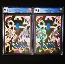 Lot of 2 X-MEN # 54 CGC 9.6 PRISM FOIL 1996 w/COA SPECIAL COLLECTOR'S EDITION