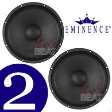 "Eminence DELTA 15A 15"" inch Professional Speakers 400 Watt RMS 8 ohm, PAIR 2 pcs"