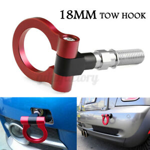 18mm Tow Hook Ring JDM Aluminum Alloy Strap Ring Front Rear Racing Turbo Red UK
