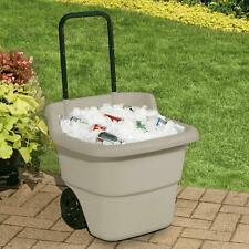 Rolling Lawn And Utility Cart With Retractable Handle 15 Gallons