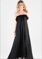 Woodford & Co Silk Love Child Maxi Dress Black Size 6 XS BNWT RRP:$299