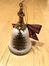 Christmas Ornament Spode Christmas Tree 1999 Annual Bell Santa Ornament