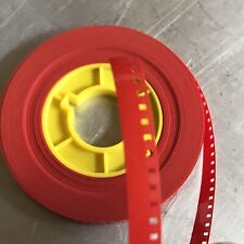 """8mm Film Leader 50 ft NEW """"FIESTA BRAND"""" RED COLOR plus plastic core"""