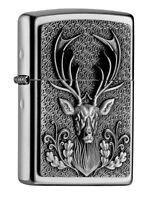 ZIPPO Benzin Feuerzeug Plakette Deerhead Emblem Hirsch 2004736 NEU OVP