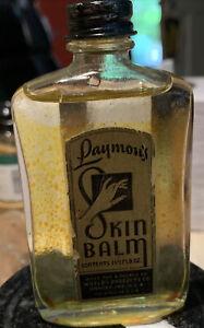 Vintage Laymon's Skin Balm 1 1/2 Fl Oz Glass Bottle Spencer World's Product 40s