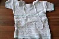 Babykleidung Baby Schlupfjüpchen weiß/grün Gr. 82 Kurzarm DDR