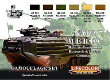LIFECOLOR PAINT NATO MERDC Camouflage Acrylic Set 6 22ml Bottles CS2 FREE SHIP