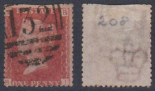 """GB ----- QV,  Penny Red,  Postmark """" 132""""     Used"""