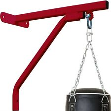 Heavy Duty Punching Bag Wall Bracket Steel Mount Hanging Stand Boxing MMA RED