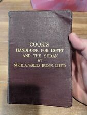 COOK'S HANDBOOK FOR EGYPT AND THE SUDAN BY SIR E.A.WALLIS BUDGE, LITTD  1925 COP