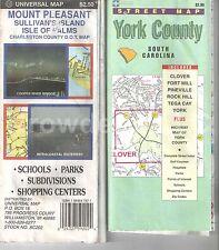 Vintage Maps: York County & Mount Pleasant South Carolina Street Maps