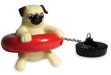 Bath Pug Plug, floating novelty joke bathroom secret Santa gift idea pp2407