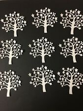 Tree 3 die cut for cards or scrapbook 9 pieces