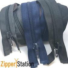 Extra Long No 5 Nylon Open Zips Heavy Duty - 100cms 140cms 200cms 220cms 230cms