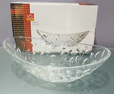 Laurus Cut Clear Crystal Oval Serving Bowl Centerpiece RCR Home & Table Italy