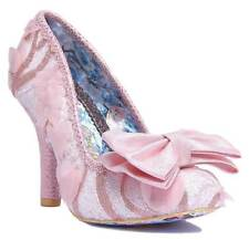 Irregular Choice Mal E Bow Womens Pink Synthetic Casual Shoes Slip-on Style 41 EU