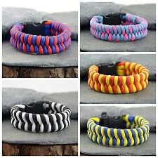 Double Core Fishtail Paracord Survival Bracelet Handmade In the UK