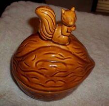 """Squirrel Sitting on A Walnut Candy Dish 6 1/4"""" Long"""