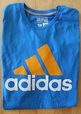 NWOT ADIDAS MEN'S Big & Tall Blue Climalite Performance Athletic T-Shirt 3XL
