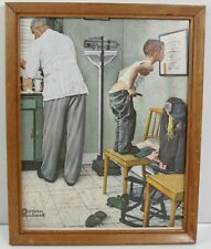 """Norman Rockwell Framed Lithograph Doctor'S Office 11x15"""""""