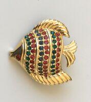 Vintage tropical fish pin brooch