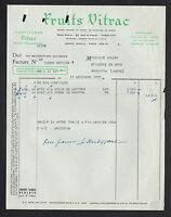 """PARIS (XVII°) CONFITURES & CONSERVES de FRUITS """"FRUITS VITRAC"""" en 1953"""