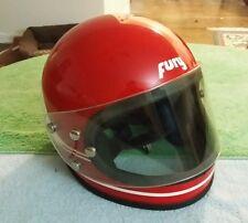 VINTAGE FURY 500 STRIPES MOTORCYCLE HELMET American Sports RED 1970 Yamaha Honda