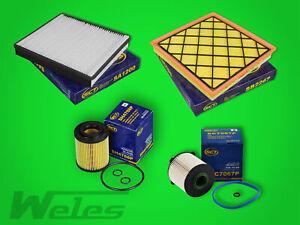 SERVICEPAKET OPEL ASTRA J 1,7 CDTI GTC Luft- Pollenfilter Ölfilter Dieselfilter