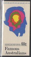 AUSTRALIA SGSB47 1970 60c FAMOUS AUSTRALIANS BOOKLET MNH