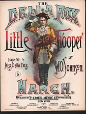 The Della Fox Little Trooper March 1895 Large Format Sheet Music
