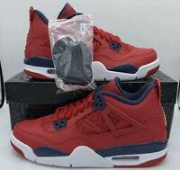 Nike Air Jordan 4 Retro FIBA Gym Fire Red Obsidian OG Sku: 408452-617 Size GS 7Y