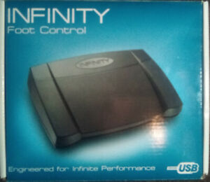 INFINITY IN-USB-2 Transcription Foot Pedal Version 14 in Box
