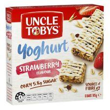 Uncle Tobys Yoghurt Muesli Bars Strawberry 6 Pack 185g