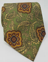 Cravatta basile 100% pura seta tie silk original made in italy