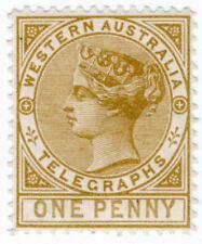 (I.B) Australia Telegraphs : Western Australia 1d