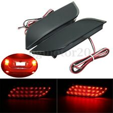 Smoke Rear Reflector Bumper Tail Brake Stop Driving LED Light For Subaru Impreza