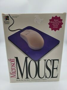 Vintage Microsoft Comfort 2 Button Mouse PN 37967 Wired Serial 2.0 Open box