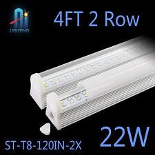 10pcs 2 row leds integrated tube 4FT 22w t8 led light bulbs tube saving energy